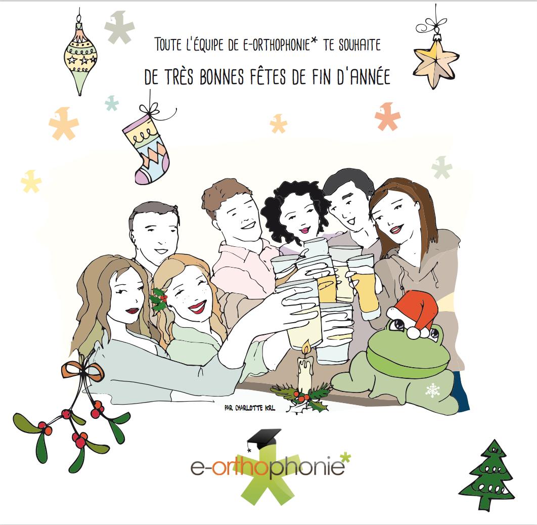 e-orthophonie* vous souhaite de belles fêtes de fin d'année !