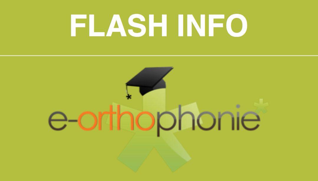Le flash info d'e-orthophonie* mars 2020