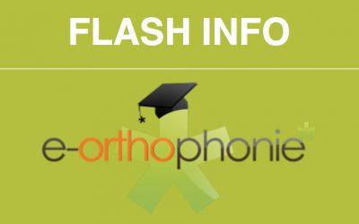 Le flash info d'e-orthophonie* – novembre 2017