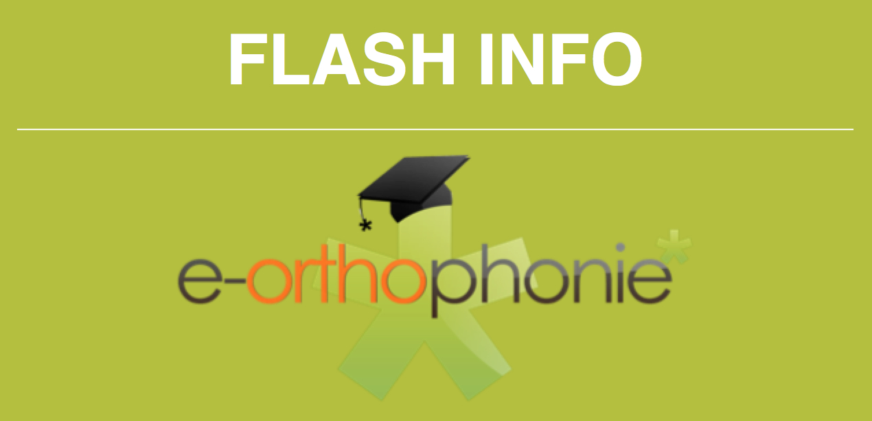 Le flash info d'e-orthophonie* – octobre 2019