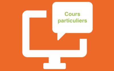 Des cours particuliers en visioconférence… sur demande !