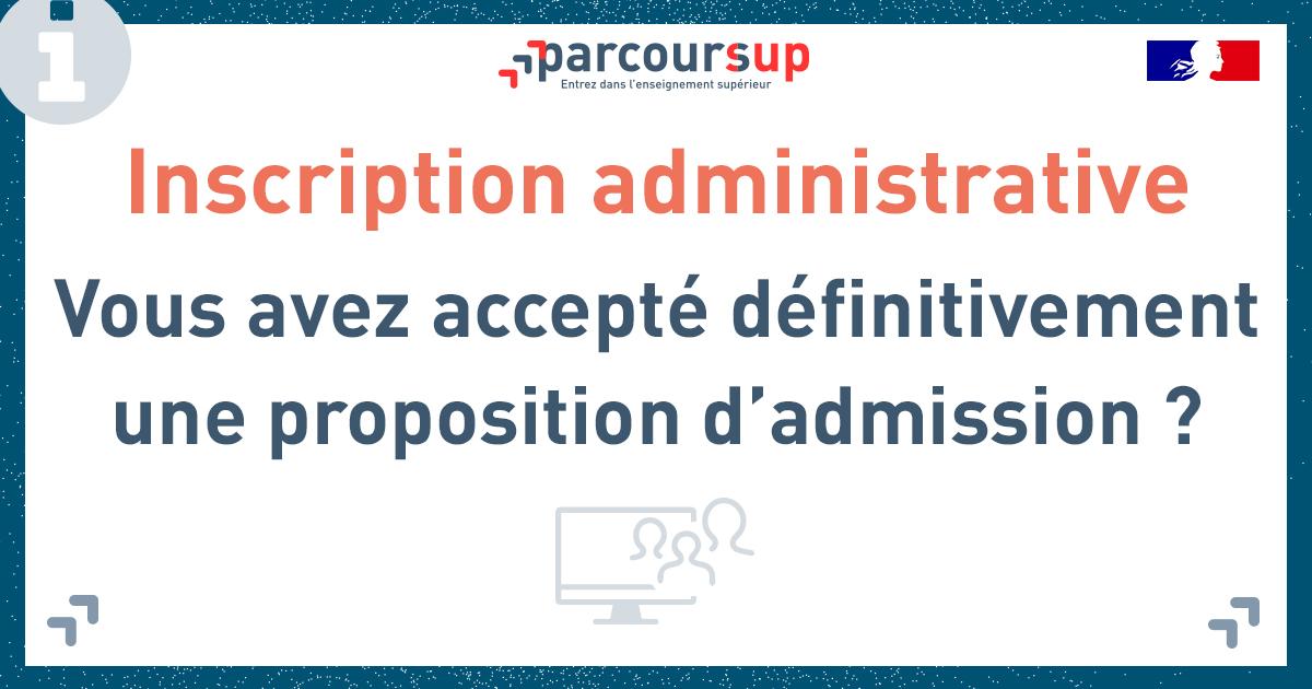 Inscription administrative Parcoursup